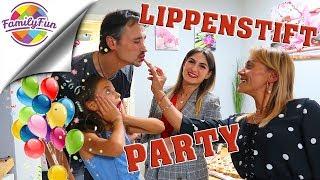 ÜBERRASCHUNGSPARTY mit LIPPENSTIFT CHALLENGE -  Family Fun