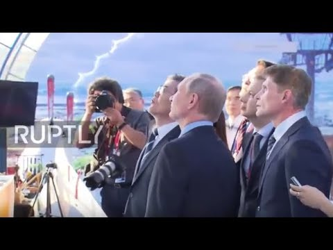 Russia: Putin and Moon take a break from EEF with Russian-Far East Street Festival