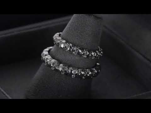 Обручальные кольца «Черепа» из белого золота с бриллиантами