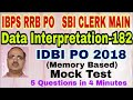 Data Interpretation Questions-182 Double Pie Diagram IDBI PO 2018
