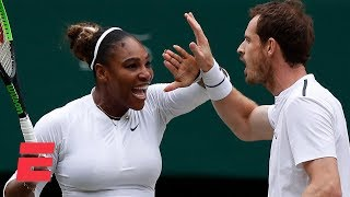 Serena Williams, Andy Murray advance in mixed doubles | 2019 Wimbledon Highlights