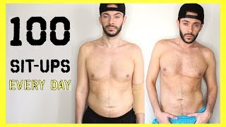 100 SIT UPS EVERYDAY for 7 DAYS | Body Transformation Challenge: Does It Really Work?