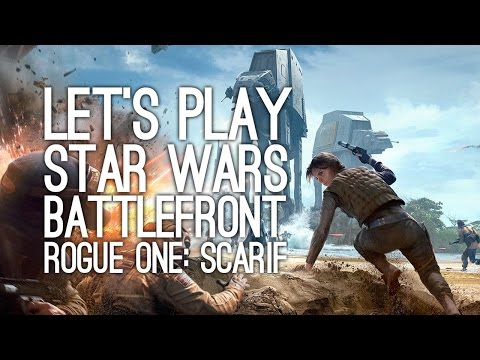 Star Wars Battlefront Rogue One Scarif DLC: Let's Play Rogue One Scarif - SWISHY CAPE