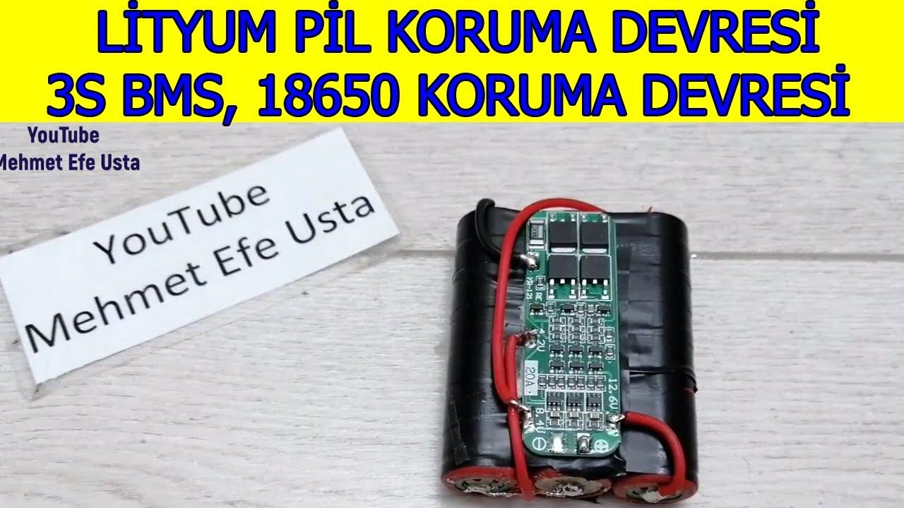 3S BMS Lityum Pil Koruma Devresi Nasıl Bağlanır (12 volt pil koruma devresi, 18650 koruma devresi)