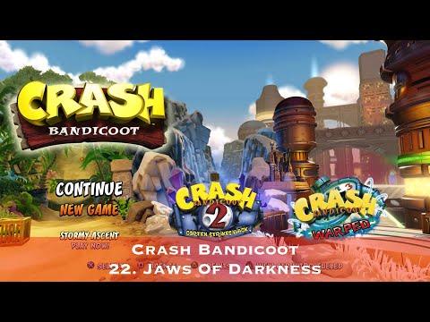 Crash Bandicoot - 22. Jaws Of Darkness - Сбор всех кристаллов
