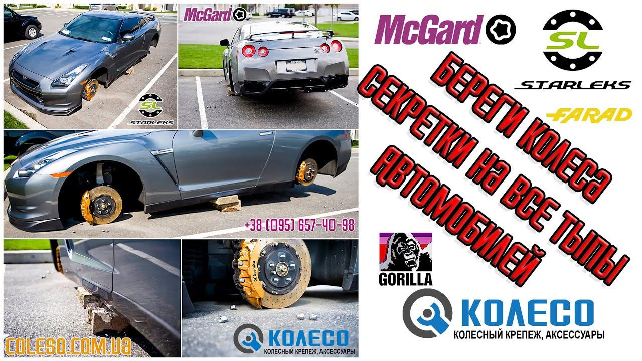 Секретки на колеса mcgard,секретки на литые диски,гайки секретки, секретные болты купить в ярославле.