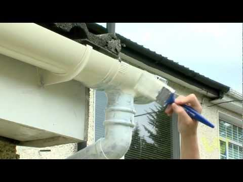 How to Paint a Plastic Gutter