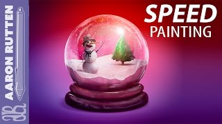 Snow Globe - Digital Painting (Speed Painting with Corel Painter)