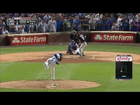 Aroldis Chapman Cubs FULL Debut on WGN | 100 mph + Fastball!! 7-27-16