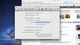 Mac Tutorial - How to change Safari Home Page