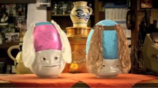 Hartporzellan Eierbecher 2er-Set küssend und verträumt weiß... finden Sie im kuechenkonsum
