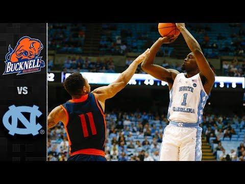 Bucknell vs North Carolina Basketball Highlights (2017)