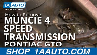 How To Remove Install Muncie 4 Speed Transmission GTO Chevelle Skylark 442 Part 2 1AAuto.com