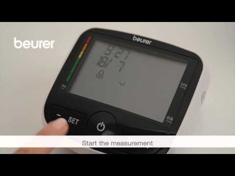 Quick start video for the BM 40 blood pressure monitor from Beurer