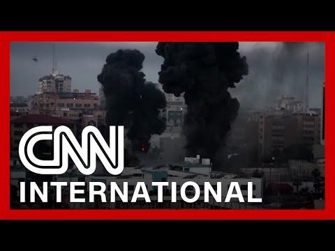 Videos show Israeli airstrikes on Gaza