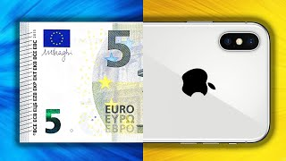 Transform 5€ into an iPhone! (impressive)