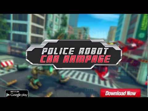 Police Robot Car Rampage: New Robot Shooting Games