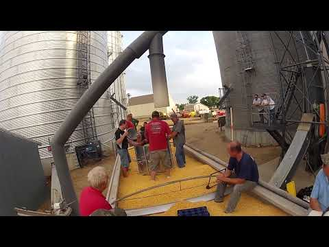 Practiceing grain rescue with our new rescue tube system part 2