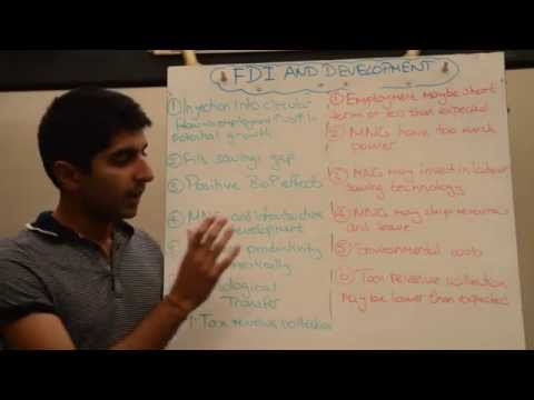 Y2/IB 18) FDI (Foreign Direct Investment) and Development