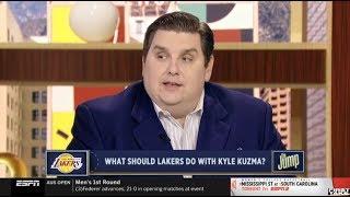 Brian Windhorst EXPLAIN Why Lakers should trade Kyle Kuzma for Derrick Rose