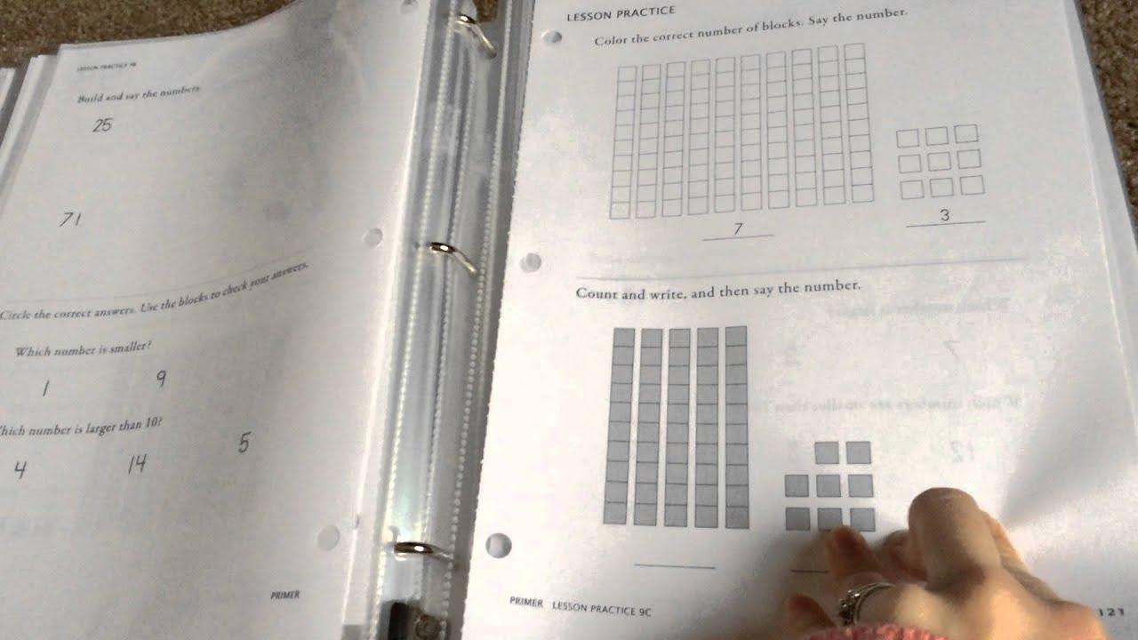 Math U See Primer Kindergarten Math Homeschool