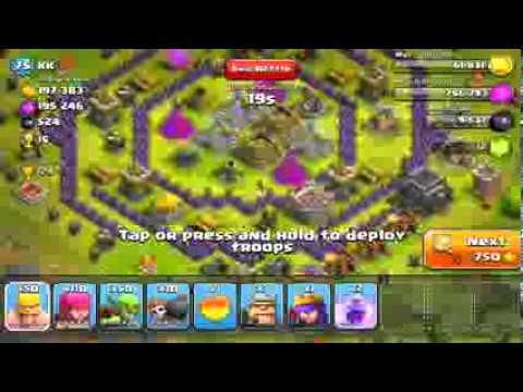 Clash of Clans Tier 1 troops high lvl raid!!