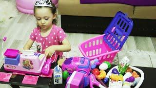 Market Arabası İle Alışveriş Oyunu ve Cici Kız Öykü