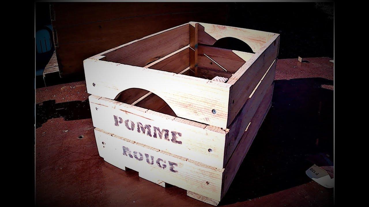 Caisse De Pomme Vide [tuto] caisse/cagette à pomme en palette