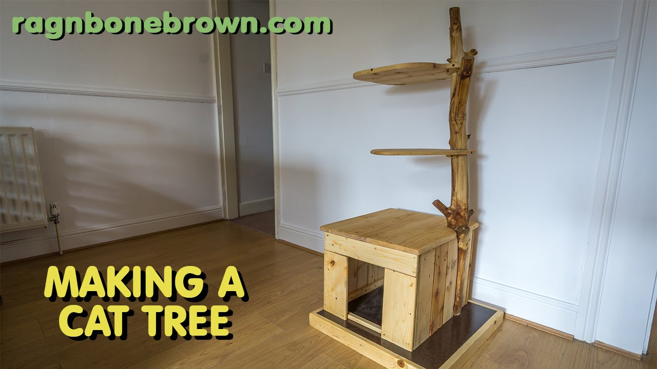 Making a cat tree part 2 of 2 youtube - How to make a simple cat tree ...