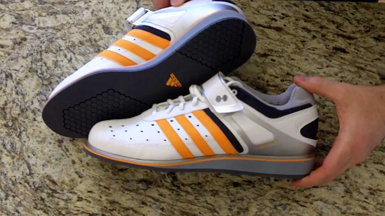ac46c988cb50 Adidas Power Lift Trainer ( Powerlift ) Weightlifting Shoe Review -  WLSHOES.COM - YouTube