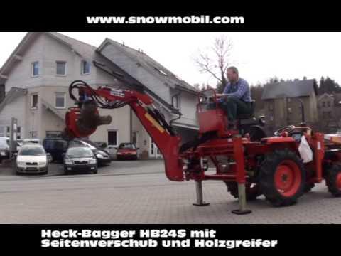 heck bagger hb24s anbaubagger mit holzgreifer. Black Bedroom Furniture Sets. Home Design Ideas