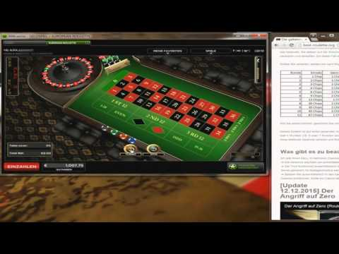 Video Roulette strategie drittel