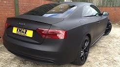 Audi A5 wrapped matte black