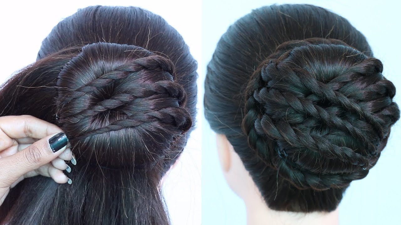New Twisted Bun Hairstyle For Wedding Guest Easy Hairstyles Juda Hairstyle For Party Hairstyle