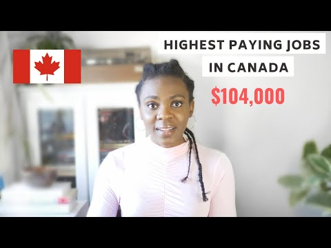 HIGHEST PAYING JOBS IN CANADA (WITH SALARIES)