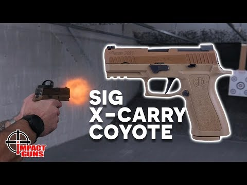 Sig P320 X-Carry Coyote 9mm W/Romeo 1 Red Dot - Review & Range Test