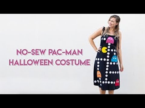 DIY No-Sew Halloween Costume! Pac-Man Dress Inspired By The Arcade Game