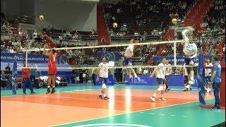 Волейбол. Нападающий удар. Сборные России и Кубы