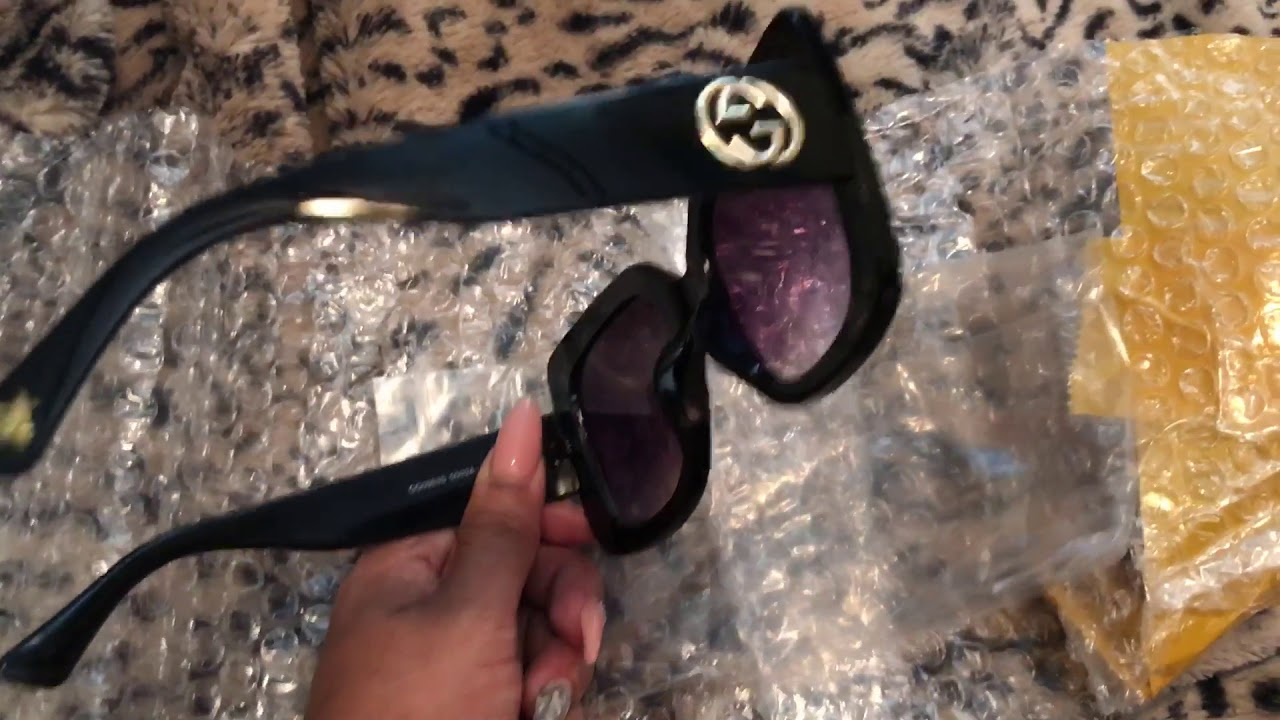 473a9c7800f GUCCI SUNGLASSES FROM ioffer - YouTube