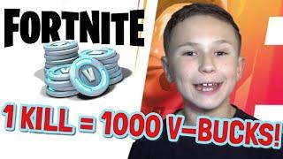 I'M BACK ON FORTNITE! | 1 KILL = 1000 V-BUCKS!