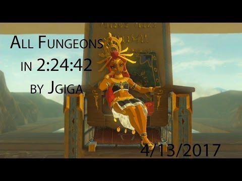 Breath of the Wild All Dungeons Speedrun in 2:24:42 (4/13/2017)