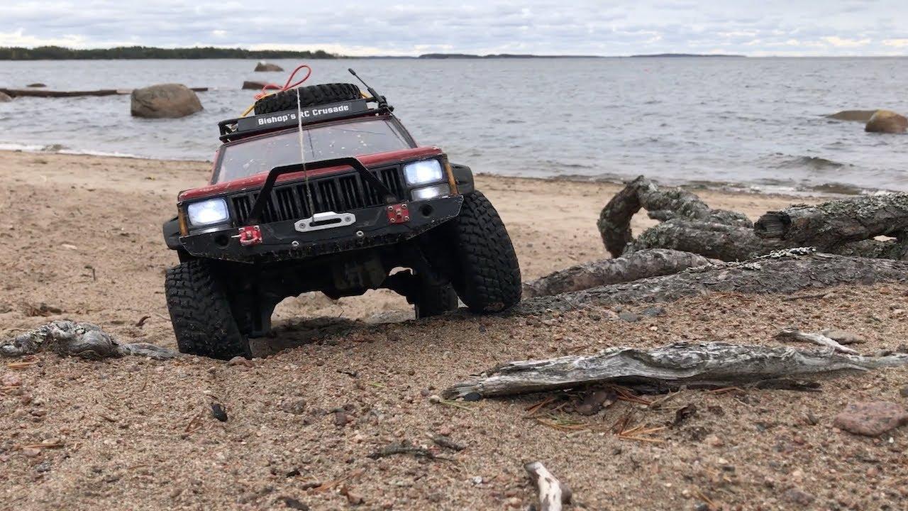 RC Jeep Cherokee XJ Traxxas TRX-4 Beach Crawling