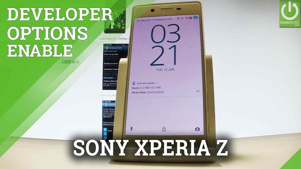 Developer Options in SONY Xperia X - Enable USB Debugging