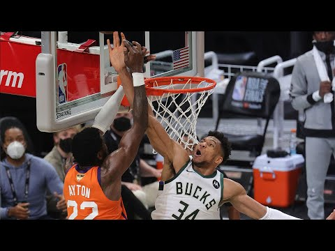 Giannis UNREAL BLOCK with 1:15 left in CLUTCH Time! 🤯