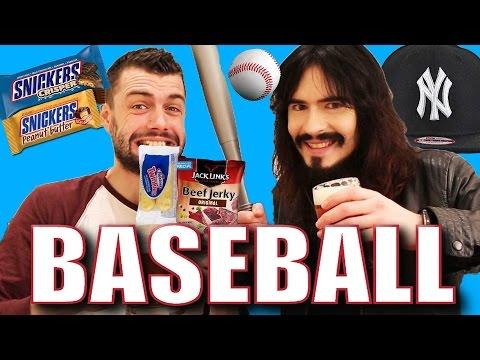 Irish People Try 'AMERICAN BASEBALL' + USA Sports Snacks!