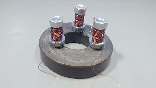 Experiment Free Energy Using Magnet and Copper Coil _ How to Make Free Energy
