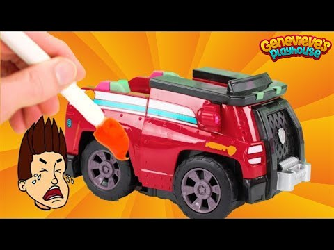 Paw Patrol Vehicle Upgrades get painted the Wrong Colors!
