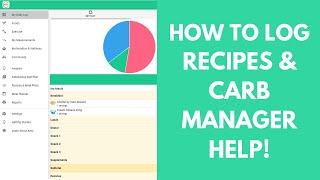 Comment Journal Des Recettes │Comment Créer Des Repas │ Carb Aide Du Gestionnaire │ Carb Manager App Tutoriel