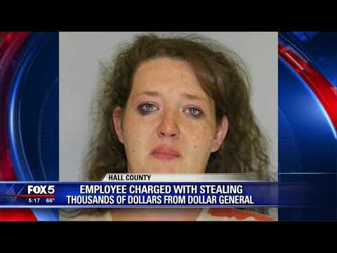 Employee charged with stealing
