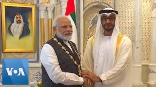 Indian PM Receives UAE's Highest Civilian Honor